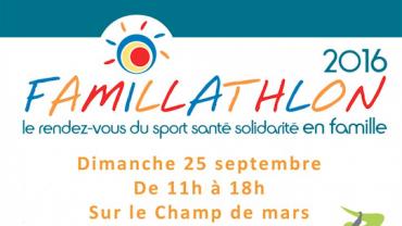 Participation au Famillathlon 2016 le dimanche 25 septembre sur le champ de Mars à Paris
