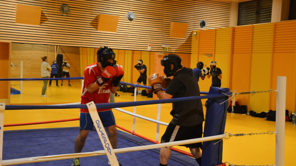 [Photos] Un entraînement de boxe au Gymnase Michelet