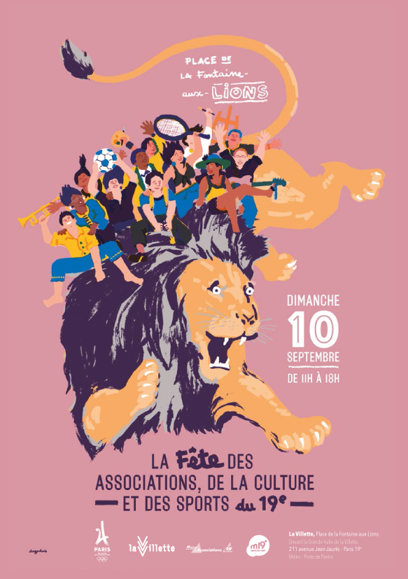 Retrouvons-nous le 10 septembre au Forum des associations Paris 19e